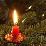 Candle close-up Royalty Free Stock Photography