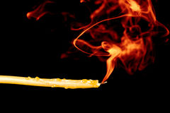 Candle Color Smoke royalty free stock photo