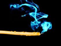 Candle Color Smoke stock image