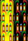 Candle colorful pattern Stock Images