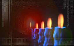Candle with colour Stock Photography