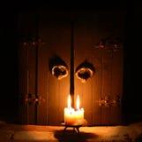 Candle com portas fechados 2 Fotografia de Stock Royalty Free