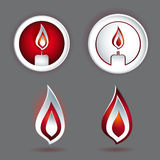 Candle concept design with various shapes Stock Photo