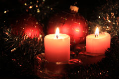 Candle Cristmas Stock Photography