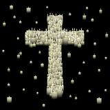 Candle cross Royalty Free Stock Photo