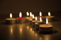 Candle cross Stock Image