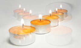 Candle cross 2 Royalty Free Stock Images