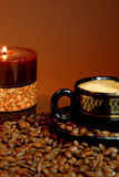 Candle and cup Stock Images