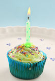 Candle Cup Cake Royalty Free Stock Photography
