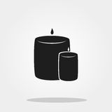 Candle cute icon in trendy flat style isolated on color background. Thanksgiving icon for internet use. Thanksgiving symbol for your design, logo, UI Royalty Free Stock Photos