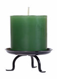 Candle cutout. Green candle cutout isolated on white background with clipping path Stock Image