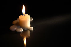 Candle On Dark Royalty Free Stock Photography
