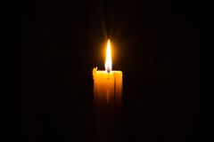 Candle in the Dark Stock Image