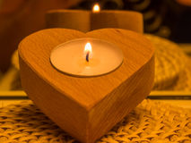 Candle in the dark Royalty Free Stock Image