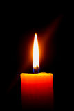 Candle in the Dark. Candle light in the darkness Royalty Free Stock Images
