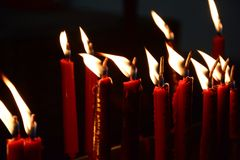Candle in the dark Stock Photography