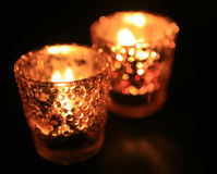 candle in dark room Stock Image