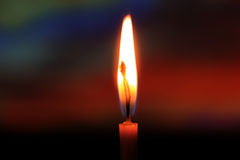 Candle in darkness Royalty Free Stock Photography
