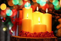 Candle decor bokeh ball Royalty Free Stock Photo