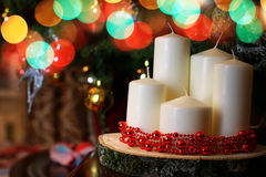 Candle decor bokeh ball Stock Photography