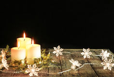 Candle decorate Royalty Free Stock Images