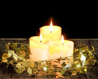Candle decorate Stock Images