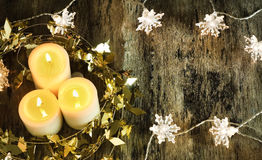 Candle decorate Royalty Free Stock Photo