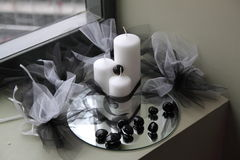 Candle decoration Stock Images