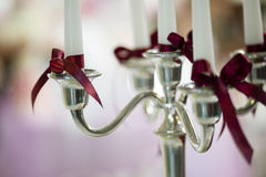Candle decoration detail Stock Photo