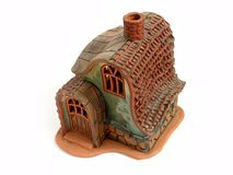 Candle Decoration House. Aroma, Brown roof Royalty Free Stock Images