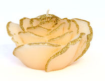 Candle decorative in form bud rose Royalty Free Stock Photography