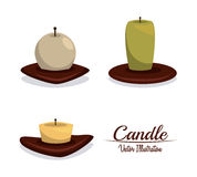 Candle design Royalty Free Stock Photo