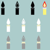 Candle different colour it is icon. Candle different colour it is icon set Royalty Free Stock Image