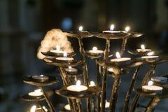 Candle in Duomo Stock Photos