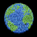 Candle earth illustration Stock Photo