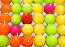 Candle eggs colorful Stock Photography