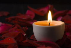 Candle - extremely closeup Royalty Free Stock Photography