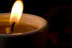 Candle - extremely closeup . Royalty Free Stock Photography