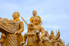 Candle festival is beautiful in Thailand. Royalty Free Stock Photos