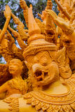 Candle festival is beautiful in Thailand. Royalty Free Stock Photography