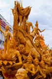 Candle festival is beautiful in Thailand. Stock Photos