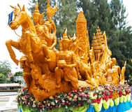 Candle Festival. Loei Thailand June 28, 2014 Stock Image