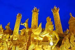 Candle Festival in Thailand Royalty Free Stock Image