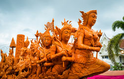 Candle festival in Thailand Stock Photo