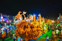 Candle festival in Thailand Stock Image