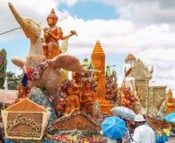 Candle Festival. Ubon Ratchathani, Thailand July 11, 2014 Royalty Free Stock Images