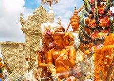 Candle Festival. Ubon Ratchathani, Thailand July 11, 2014 Royalty Free Stock Photos