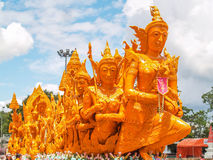Candle Festival. UBON RATCHATHANI, THAILAND - July 12: The Candle are carved out of wax Stock Images