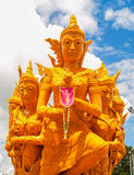Candle Festival. UBON RATCHATHANI, THAILAND - July 12: The Candle are carved out of wax Royalty Free Stock Photos