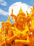 Candle Festival. UBON RATCHATHANI, THAILAND - July 12: The Candle are carved out of wax Royalty Free Stock Photography